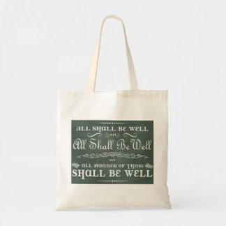 All Shall Be Well Canvas Bags
