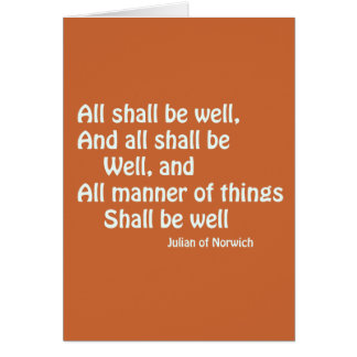 All Shall Be Well Card