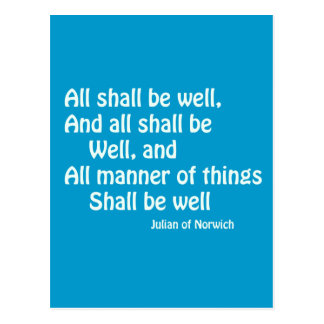 All Shall Be Well Postcard