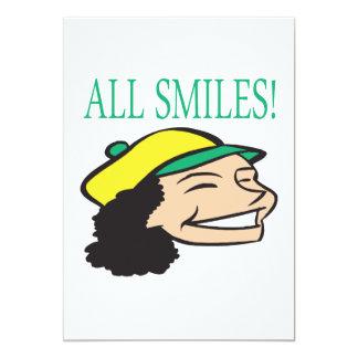 All Smiles 13 Cm X 18 Cm Invitation Card