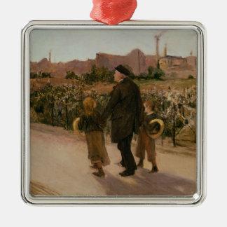 All Souls' Day, c.1882 Silver-Colored Square Decoration