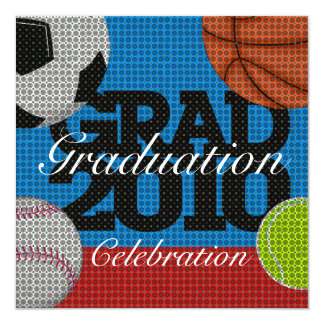 All Sport Graduation Party 1 Invitation