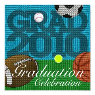All Sport Graduation Party 2 Invitation