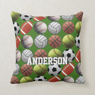 All Sport with Name on Green Cushion