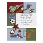 All Sports Baby Shower Template Postcard