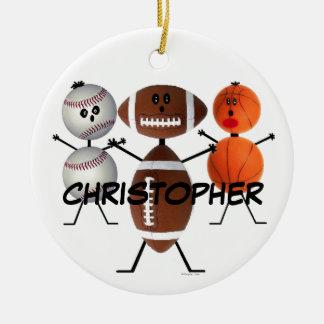 All Sports Cartoon Christmas Ornament