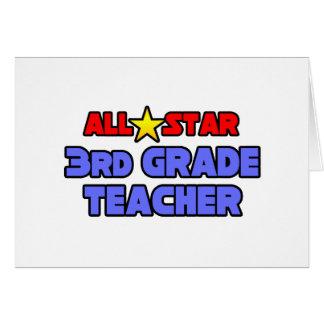 All Star 3rd Grade Teacher Greeting Card