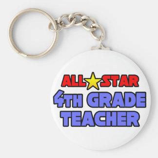 All Star 4th Grade Teacher Key Chain