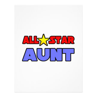 All Star Aunt Flyer Design