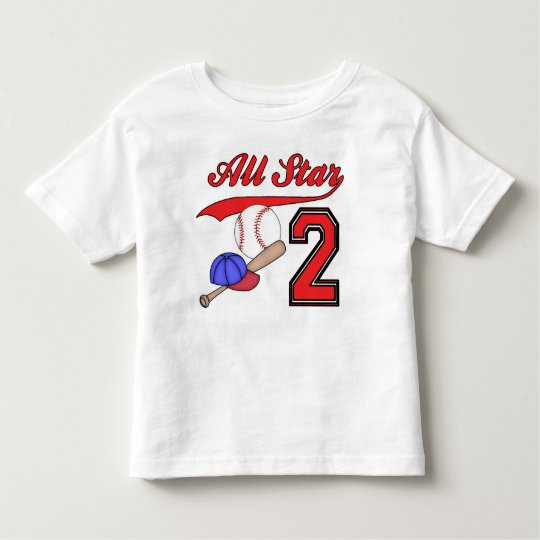 All Star Baseball 2nd Birthday Toddler T-Shirt