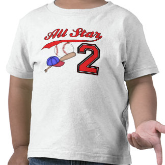 All Star Baseball 2nd Birthday Shirt