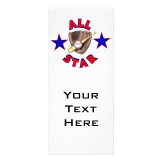 all star baseball player graphic rack card design