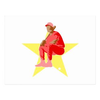 All Star Baseball Player Postcard