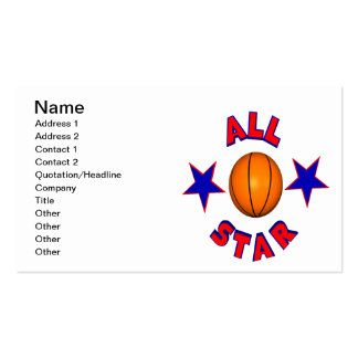 All Star Basketball Pack Of Standard Business Cards