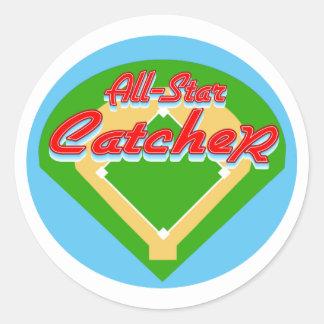 All-Star Catcher Round Sticker