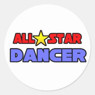 All Star Dancer Round Sticker