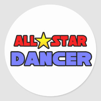 All Star Dancer Round Stickers