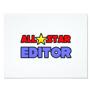 All Star Editor 11 Cm X 14 Cm Invitation Card