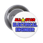 All Star Electrical Engineer Button