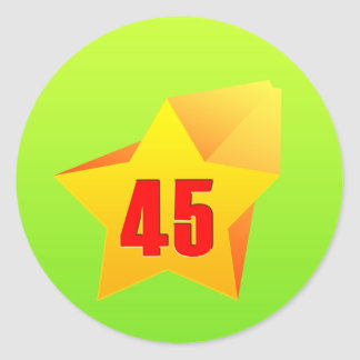 All Star Fourty Five years old! Birthday Round Stickers