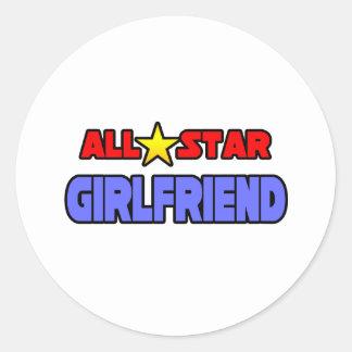 All Star Girlfriend Round Sticker