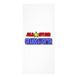 All Star Granddaughter Personalised Rack Card