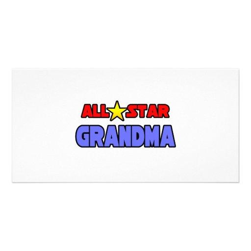 All Star Grandma Photo Card Template