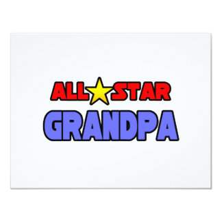 All Star Grandpa Custom Invitation