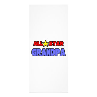 All Star Grandpa Custom Rack Cards