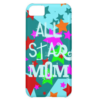 All Star Mom iPhone Case Teal Mothers Day Gifts Cover For iPhone 5C