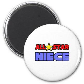 All Star Niece 6 Cm Round Magnet