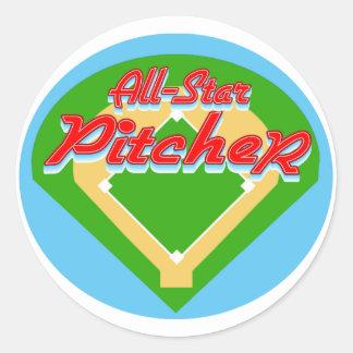 All-Star Pitcher Round Sticker