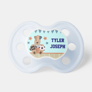 All-Star Puppies Baby Boy Personalized Pacifier