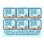 All-Star Puppies Baby Shower Party Favour Tags