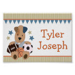 All-Star Puppies Personalised Name Poster