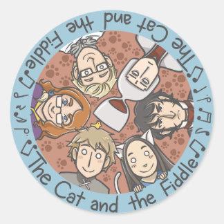 All-star round sticker