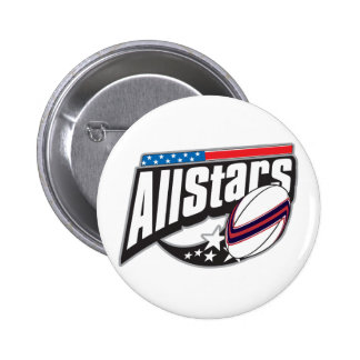 All Star Rugby 6 Cm Round Badge