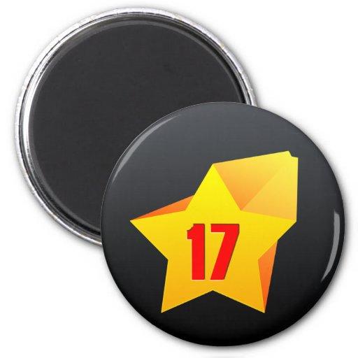 All Star Seventeen years old! Birthday Fridge Magnet