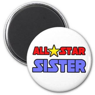 All Star Sister 6 Cm Round Magnet