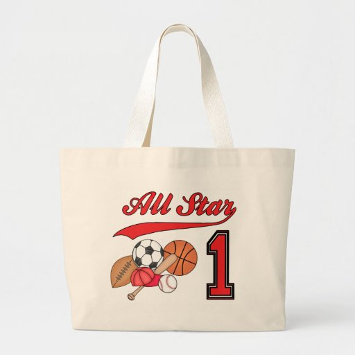 All Star Sports 1st Birthday Tote Bag