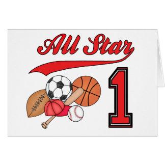 All Star Sports 1st Birthday Invitations