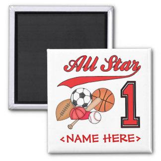 All Star Sports 1st Birthday Magnet
