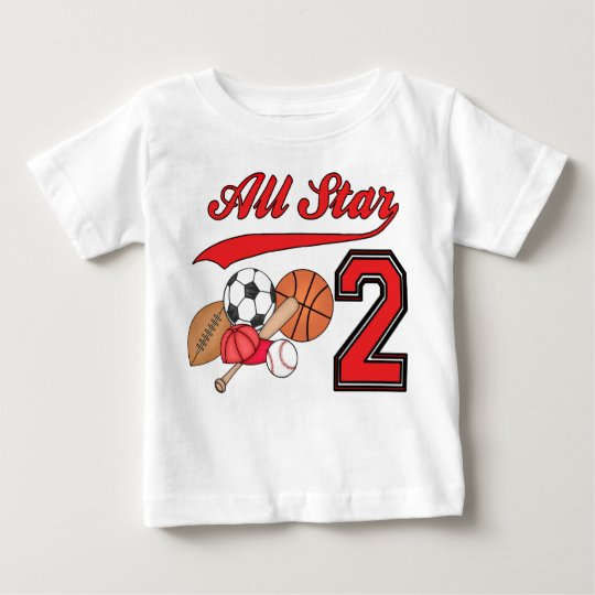 All Star Sports 2nd Birthday Baby T-Shirt