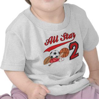 All Star Sports 2nd Birthday Shirt