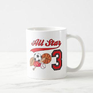 All Star Sports 3rd Birthday Mug