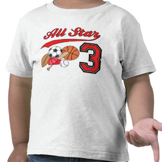 All Star Sports 3rd Birthday Tshirts