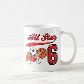 All Star Sports 6th Birthday Mugs