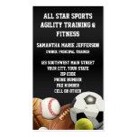 All Star Sports Balls w/ Brick Wall Business Card Templates