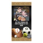 All Star Sports Balls w/ Brick Wall Photo Greeting Card