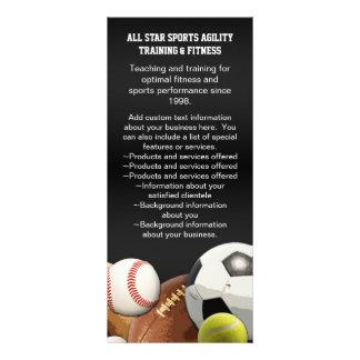 All Star Sports Balls w/ Brick Wall Rack Card Template